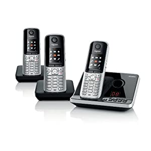siemens gigaset s795 trio dect telephone cordless brand. Black Bedroom Furniture Sets. Home Design Ideas