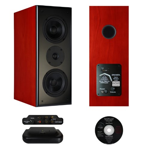 Octet Matrix Audio Ba21C-Dw60 Digital Wireless Balanced Array Speakers, Cherry Veneer, Pair