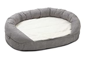 Karlie Ortho Bed Oval Lying Matress, 120 x 72 x 24 cm, Grey from LIBMC
