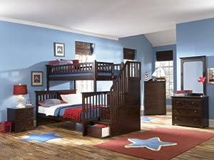 Atlantic Furniture Columbia Wood Staircase Bunk Bed -