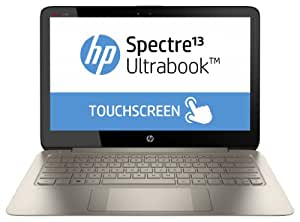 HP Spectre 13-3010EG 33,8 cm (13,3 Zoll) Notebook (Intel Core i7 4500U, 1,8GHz, 8GB RAM, 256GB SSD, Intel HD 4400, Win 8) braun