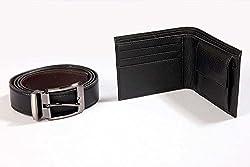 ZDO Men's Wallet & Belt Combo Black (WOS364)
