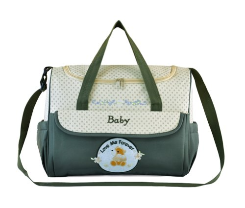 Tonwhar Fashion Diaper Tote Bag Mummy Bag Nappy Bag (Army Green) front-882873