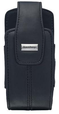 BlackBerry Lambskin Leather Swivel Holster for BlackBerry 8100, 8110, 8120, 8130 (Pitch Black) by BlackBerry