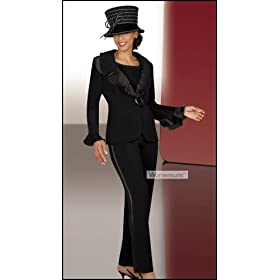 Women's Formal Evening Black Pant Suit (2442)