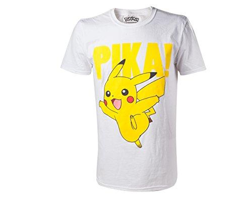 Camiseta Pokemon Pikachu Blanco XX-L