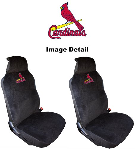 St. Louis Cardinals Car Truck SUV Low Back Bucket Seat Covers - PAIR (Cardinal Car Seat Covers compare prices)