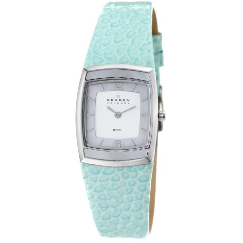 Skagen Denmark Womens Watch Sky Blue With Mop Inlay #855Ssli