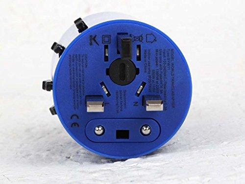 Salvador Bachiller - Adaptateur de Voyage avec hub USB et WiFi - Digital Sb HS-8778B - Bleu