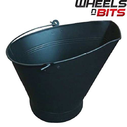 J-Home Waterloo Coal Bucket Black Cast Iron Powder Coated double handle