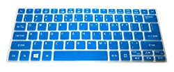 Translucent Blue Ultra Thin Soft Silicone Keyboard Cover Protector Skin for Acer Aspire V5-122 V5-122P V5-132 V5-132P V3-111P V3-112P V13 V3-331 V3-371 E11 E3-111 E3-112 ES1-111M, Aspire Switch 11 11.6