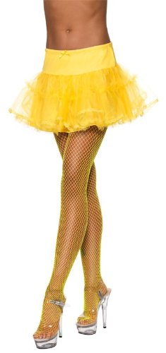 Fever Women's Tulle Petticoat Neon In Display Pack, Yellow, One Size