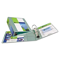 Avery Heavy-Duty View Binder with One Touch EZD Rings, 1 1/2 Capacity, Sea Foam Green