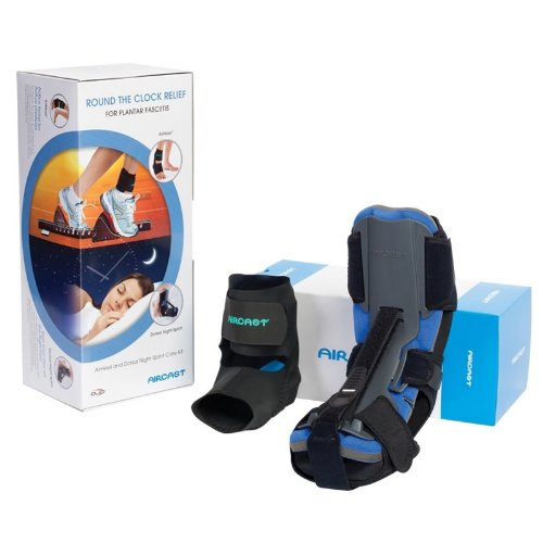 Aircast Airheel Ankle Brace + Dorsal Night Splint Care Kit - To Relieve Associated Symptoms of Plantar Fasciitis, Achilles Tendonitis and Heel Pain - Lightweight - Breathable - Adjustable - Patented Design