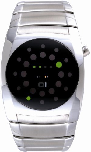 01TheOne-Unisex-L102G2Lightmare-Green-LED-Stainless-Steel-Watch