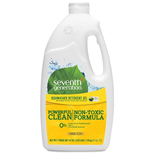 Seventh Generation Dishwasher Detergent Gel Soap, Lemon Scent, 42-Ounce Bottles, Pack of 6, Packaging May Vary (Seventh Dishwasher Detergent compare prices)