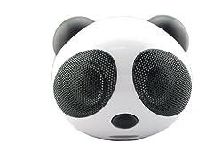 Gtt New Portable Speaker Fashion Panda Speaker Stereo Speaker System for MP3/MP4/ PC/ PSP/Smart Phone Support SD card Black