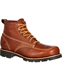 "Rocky Outdoor Boots Mens 6"" Original Oblique Toe Hiker Brown RKS0222"