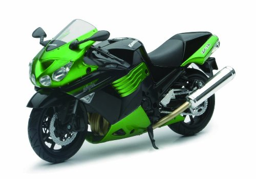 New Ray Toys Street Bike 1:12 Scale Motorcycle - Kawasaki Zx-14 2011 - Black 57433A