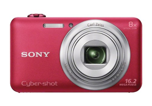 Sony DSC-WX80/R 16 MP Digital Camera with 2.7-Inch LCD (Red)