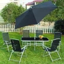 Seville 8 Piece Metal Garden Furniture Set