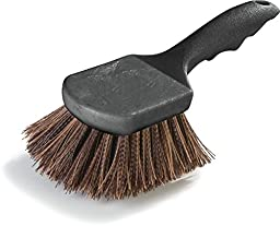 Carlisle 3650501 Sparta Utility Scrub Brush With Polypropylene Bristles 8-1/2\'\' x 3\'\' - Brown (12 PER CASE)