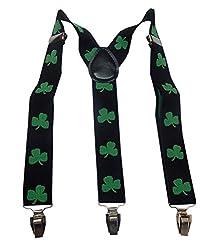 Navaksha Sparky Black Floral Adjustable Suspender