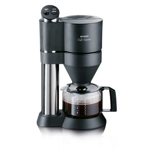 Severin CAPRICE Filter Coffee Maker with Vapotronic Brewing System, 1.2 Litre, 1450 Watt, Brushed stainless Steel...