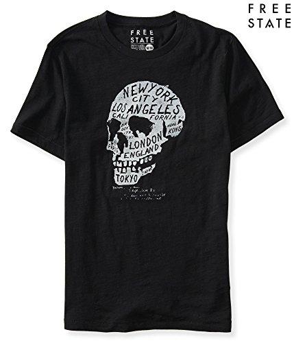 (エアロポステール)AEROPOSTALE 半袖Tシャツ Free State Skull City Graphic T ブラック Black 【並行輸入品】 (M)