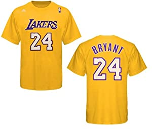 Los Angeles Lakers Kobe Bryant Gold Name and Number T-Shirt by adidas