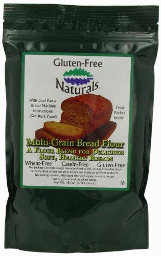 Gluten-Free Naturals Multi-grain Bread Flour, 16-Ounce Pouches (Pack of 6)