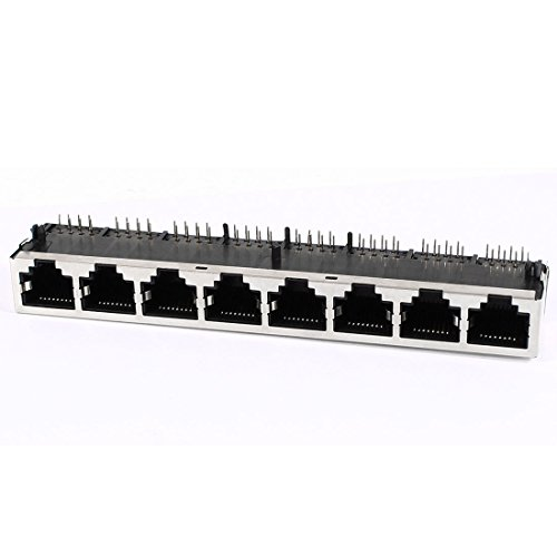 Shielded 1X8 8P8C Rj45 Plug Modular Pcb Jack Network Cable Connector