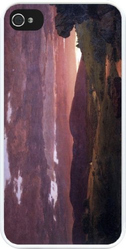 Rikki Knighttm Frederick Edwin Church Art Twilight 'Twixt Day And Night' Design Iphone 5 & 5S Case Cover (White Rubber With Bumper Protection) For Apple Iphone 5 & 5S front-622694