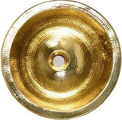 Brass Sink : .com: Nantucket Sinks solid brass round bar sink with hammered brass ...