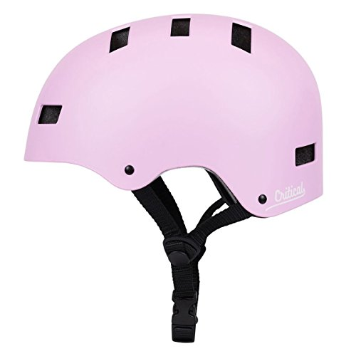 Critical Cycles Classic Commuter Bike/Skate/Multi-Sport CM-1 Helmet with 10 Vents, Matte Barely Pink, Small: 51-55 cm / 20