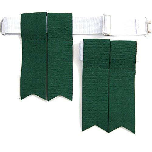 USA Kilts Standard Green Flashes with Adjustable Elastic Garter