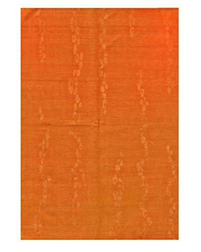 Bashian Rugs Hand-Knotted Tibetan Rug, Tangerine, 6' 2 x 9'