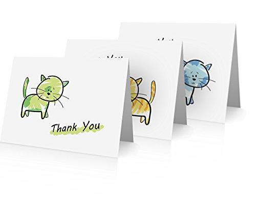 little-notas-por-comptime-gatos-tarjetas-de-nota-de-agradecimiento-tarjetas-y-sobres-24-foldover
