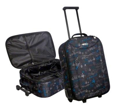 Kinder-Trolley - grau/blau - 48x34x15cm (APC-1601-G)