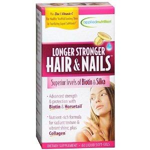 Applied Nutrition Longer Stronger Hair & Nails 60 Liquid Soft-Gels