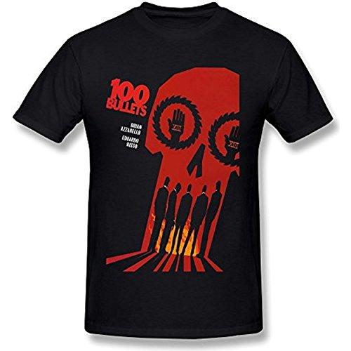 WSSFz Men's 100 Bullets Brian Azzarello Eduardo Risso T-shirt M