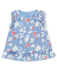 Autograph Pure Cotton Floral Top