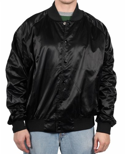 Auburn Sport Men's Classic Baseball Jacket, Black, Size X-Large at Amazon.com