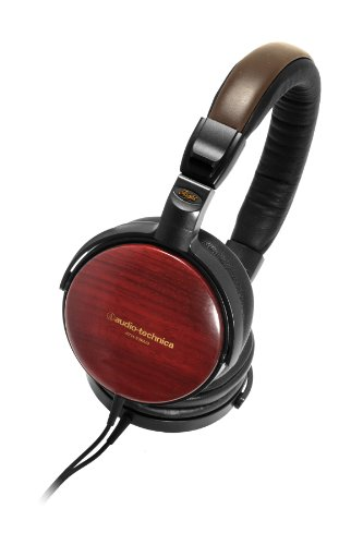 Audio Technica ATHESW9A Portable Wooden Headphones