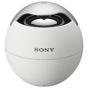 SONY ワイヤレスポータブルスピーカー Bluetooth対応 マイク付 ホワイト SRS-BTV5/W