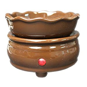 2 in 1 Chocolate Brown Ceramic Candle Warmer