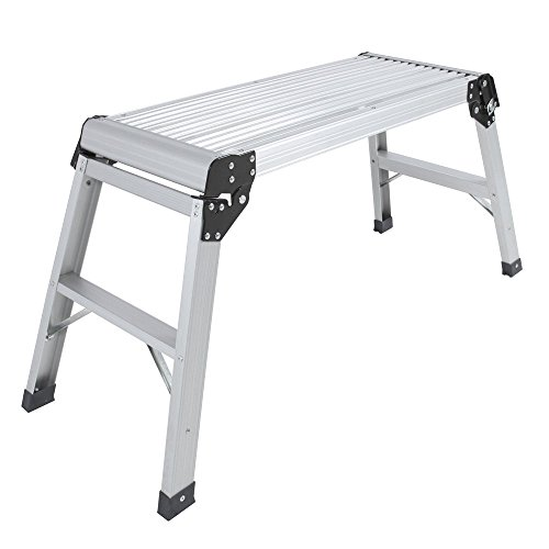 [Aluminum Platform Drywall Step Up Folding Work Bench Stool Ladder] (Jack In The Box Costume Head For Sale)