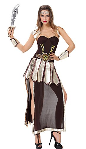 AvaCostume Female Ancient Greece Gladiator Halloween Cosplay Costume
