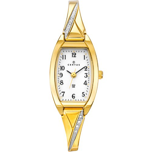 Certus 631755 - Ladies Watch - Analogue Quartz - White Dial - Golden Metal Strap