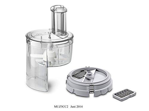 Bosch MUZ5CC2 Würfelschneider zum Schneiden in gleichmäßige Würfel mit zwei Größen (z.B. Obst, Eiswürfel, Hartkäse usw.) für Küchenmaschinen MUM5